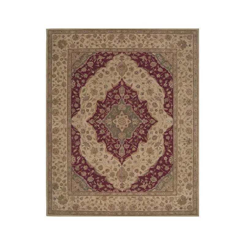 9 X 12 Nourison Nourmak Hand Knotted 100 Wool Persian: HE-03 Lacquer
